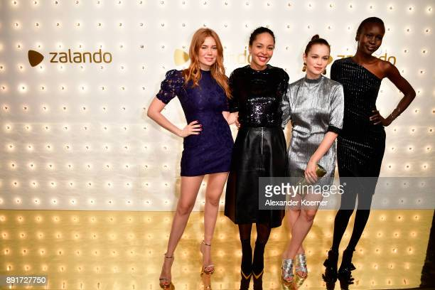 Palina Rojinski Joy Denalane Emilia Schuele and Alek Wek attend the Zalando Xmas bash hosted by Alek Wek at Haus Ungarn on December 13 2017 in Berlin...