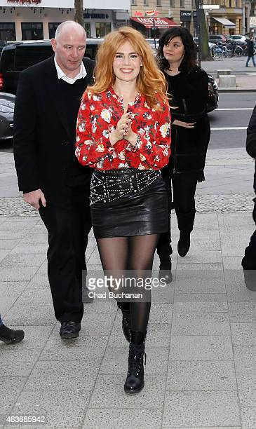Palina Rojinski sighted at the Apple Store on Kurfeurstendamm on February 17 2015 in Berlin Germany
