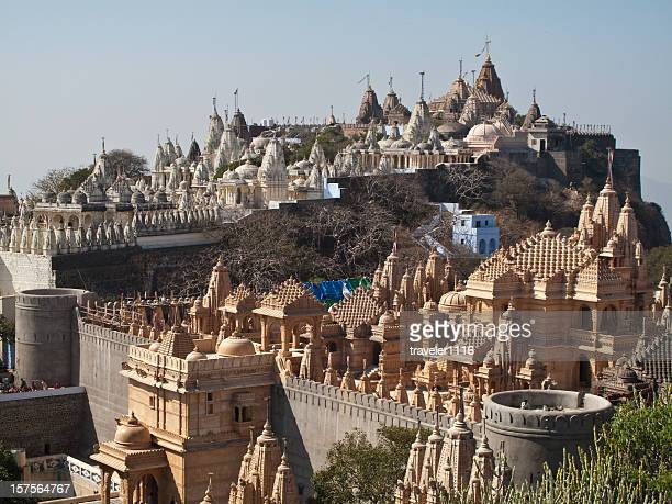 palitana, india - jain temple stock photos and pictures