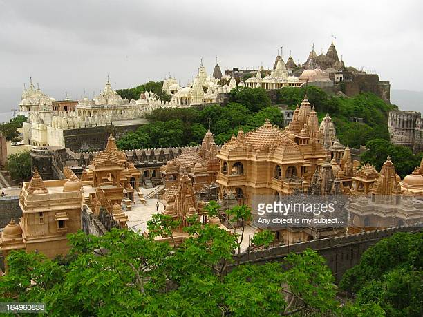 palitana jain temples - palitana stock photos and pictures