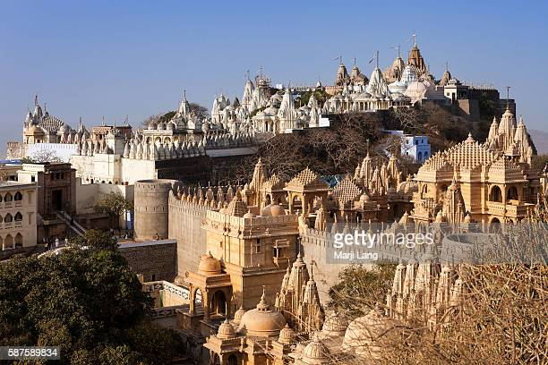 Palitana temples on Shatrunjaya hill Gujarat India