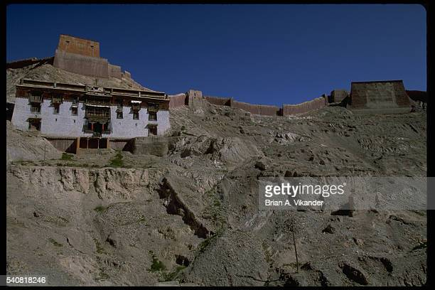palkhor chode temple, tibet - chode images stock photos and pictures