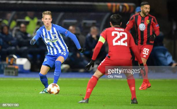 Palko Dardai of Hertha BSC and Brwa Nouri of Oestersunds FK during the Uefa Europa League Group J match between Hertha BSC and Oestersunds FK on...
