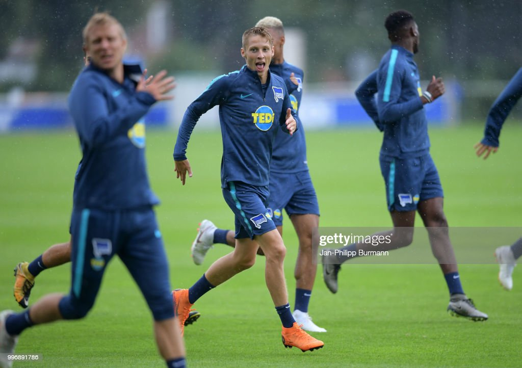 Palko Dardai of Hertha BSC during the training at the Schenkendorfplatz on July 12, 2018 in Berlin, Germany.