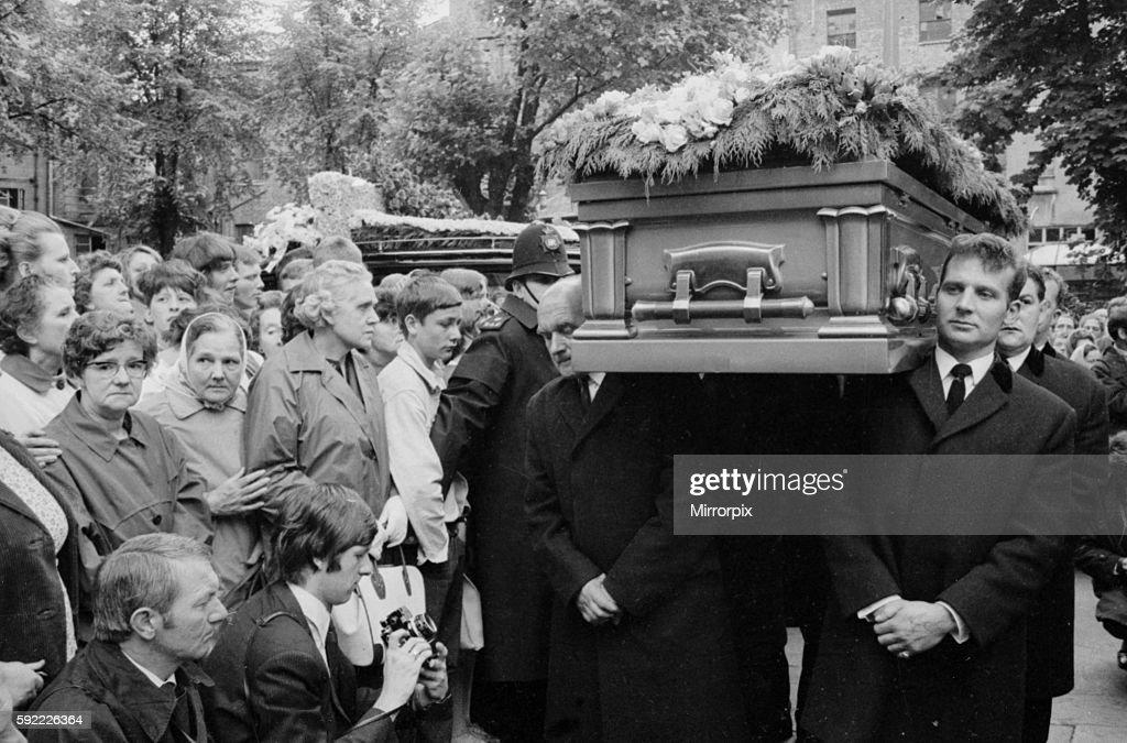 Pall Bearers Carry The Coffin Of Rolling Stones Guitarist Brian Jones  Inside Cheltenham Parish Church During