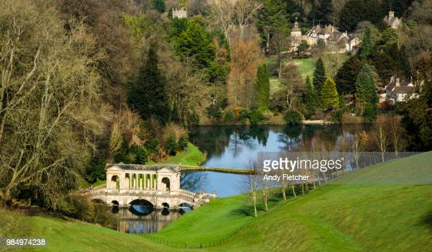 Palladian bridge at Prior Park, Bath, UK