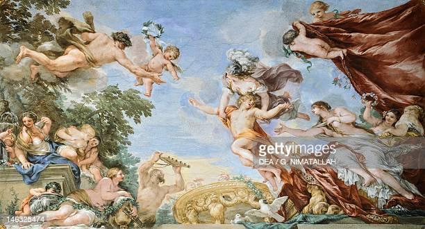 Pallas and Venus by Pietro da Cortona fresco Hall of Venus Palazzo Pitti Florence