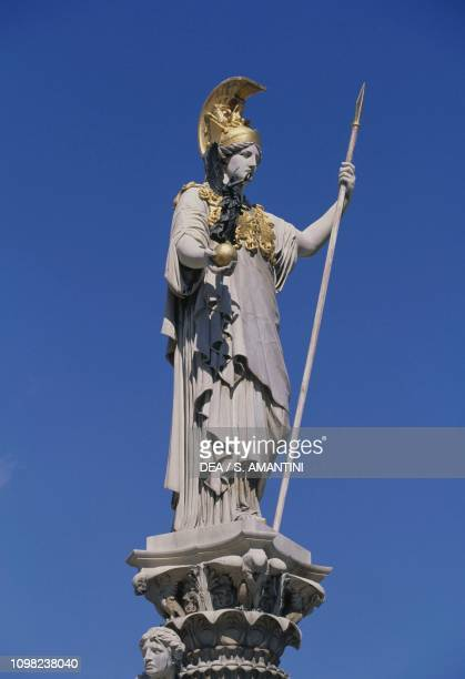 Pallas Athena Fountain in front of Austrian Parliament Building 18981902 by Theophil Hansen Wiener Ringstrasse Vienna Austria 19th20th century Detail
