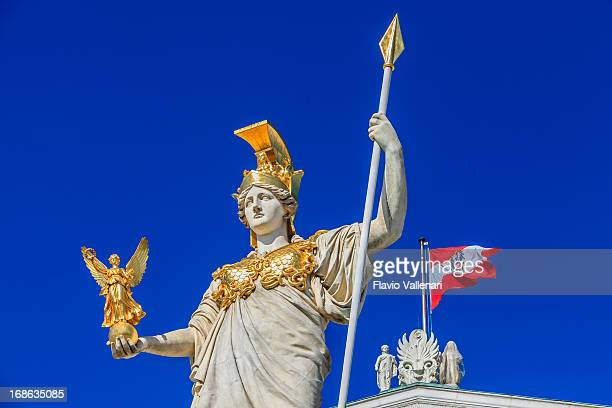 pallas-athene-brunnen, wien - traditionally austrian stock pictures, royalty-free photos & images
