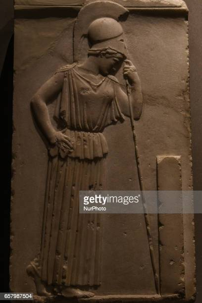 Pallas Athene in Athens Greece on March 25 2017