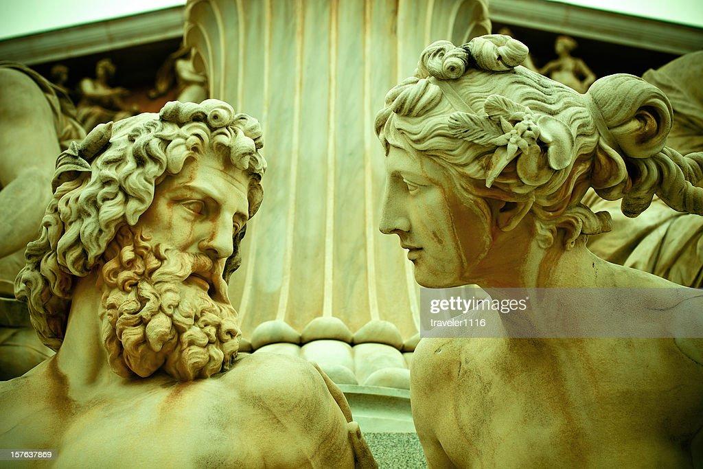 Pallade Athene Statua di Vienna, Austria : Foto stock