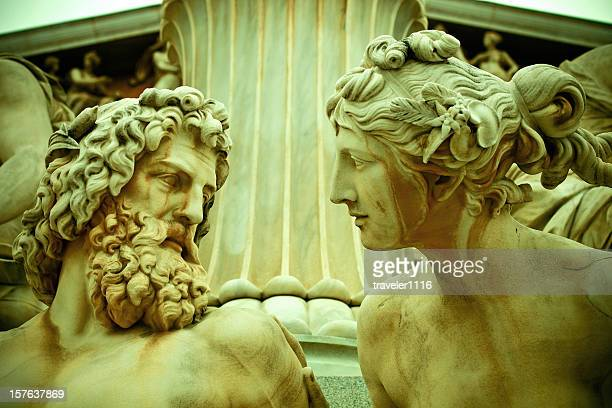 pallas athene statue in vienna, austria - roman stock pictures, royalty-free photos & images