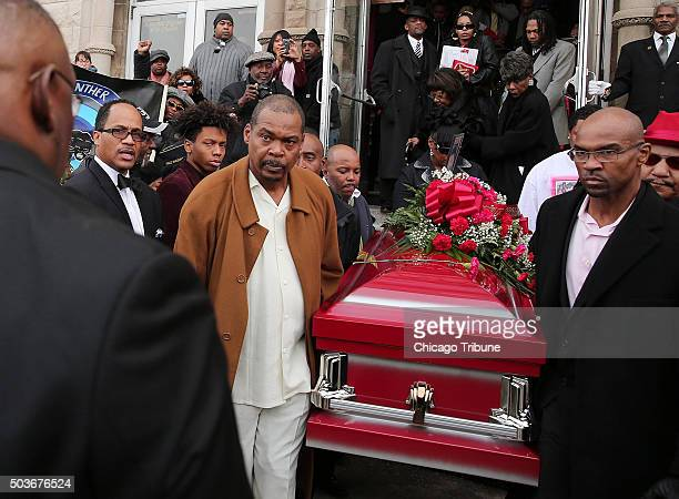 Pallbearers carry a coffin containing the body of Bettie Jones following her funeral Wednesday Jan 6 at New Mount Pilgrim Missionary Baptist Church...