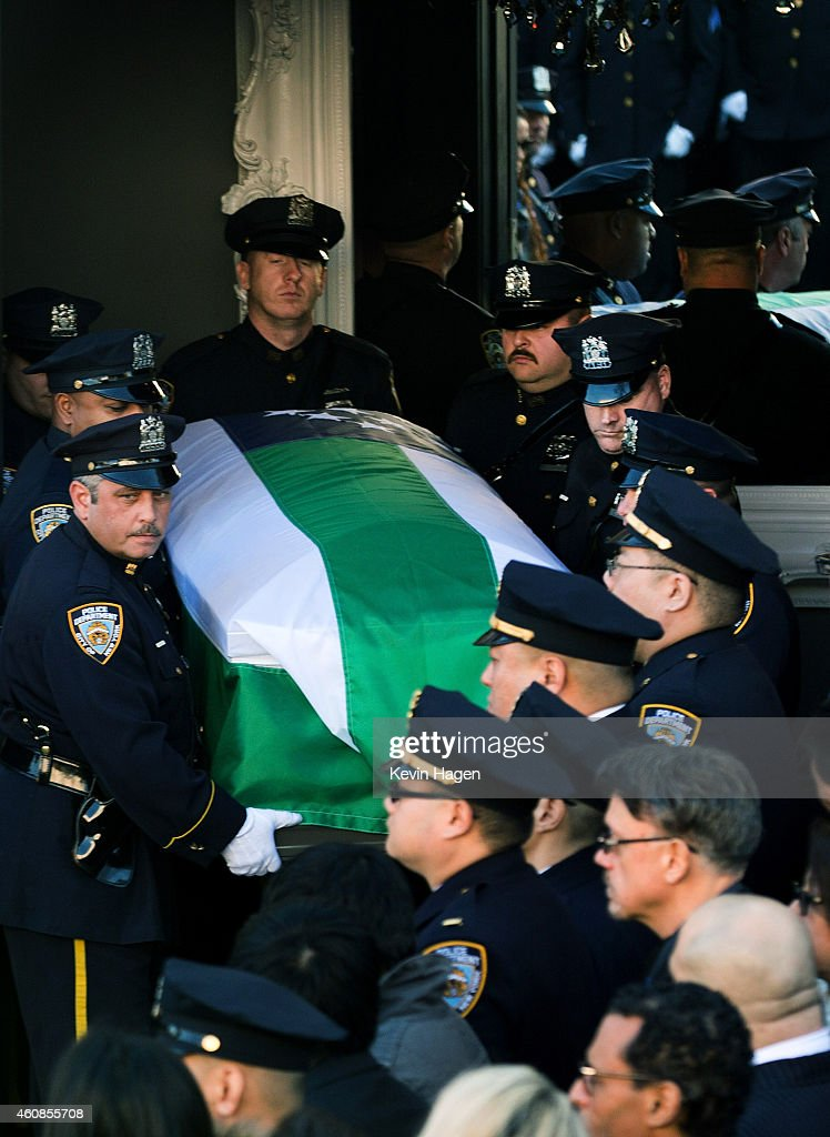 Funeral Held For One Of Two NYPD Officers Killed In Brooklyn : News Photo