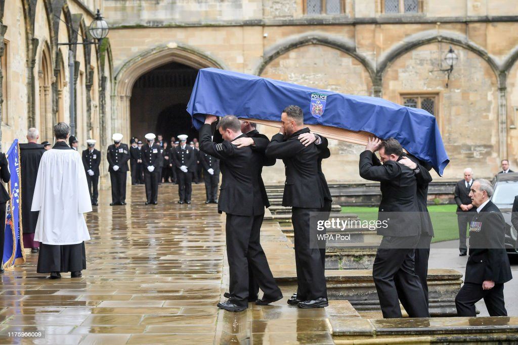 Funeral For PC Harper Killed While Responding To A Reported Burglary : News Photo