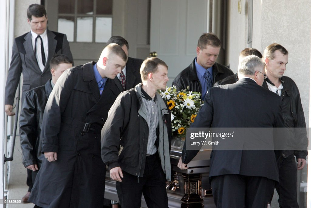 Funeral Held For Woman Murdered In Stolen Fetus Case : News Photo