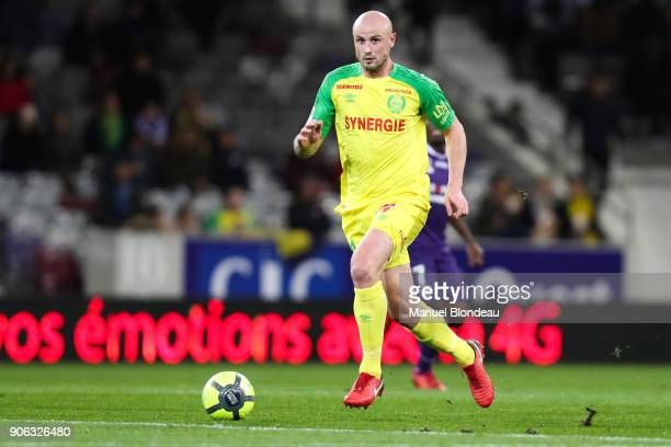 Pallois of Nantes during the Ligue 1 match between Toulouse and Nantes at Stadium Municipal on January 17 2018 in Toulouse