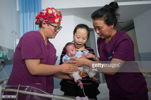 A 'palm baby' who was born at 24 weeks' gestation and only weighted 079kg has stable vital signs after 118 days salvage therapy on 05 March 2018 in...