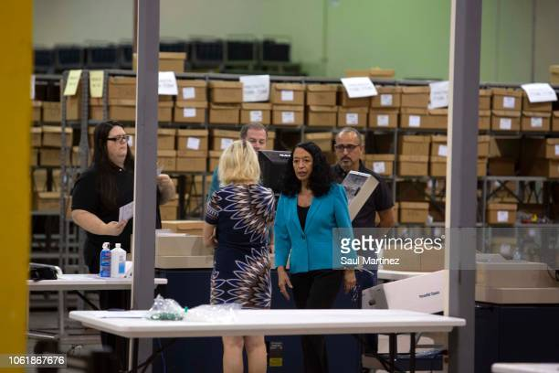 Palm Beach County Supervisor of Elections Susan Bucher at the Supervisor of Elections Service Center on November 15 2018 in Palm Beach Florida Three...