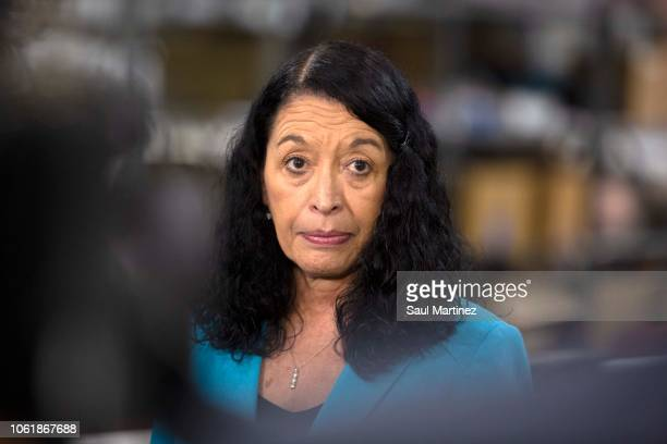 Palm Beach County Supervisor of Elections Susan Bucher talks to the media on November 15 2018 in Palm Beach Florida Three close midterm election...