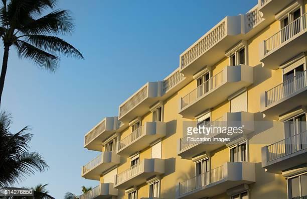 Palm Beach Florida condos on SOcean Blvd near Worth Avenue graphic palm trees and porches