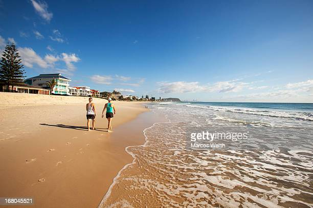 palm beach, gold coast, queensland, australia - gold coast stock pictures, royalty-free photos & images