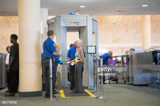 Palm Beach International Airport TSA security check point