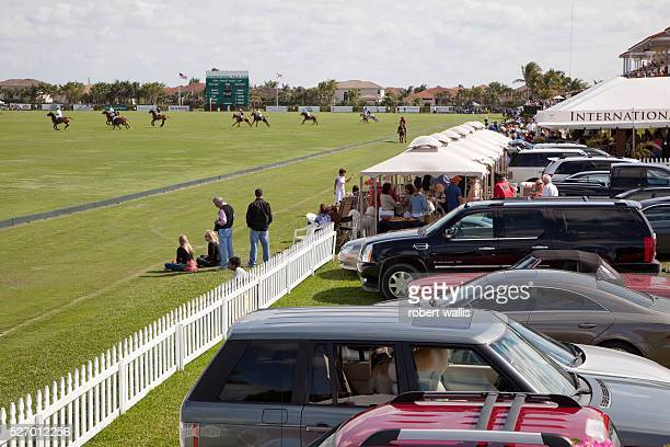 Palm Beach International Polo Club in Wellington Florida In this match part of the annual US Polo Association Gold Cup which attracts top polo...