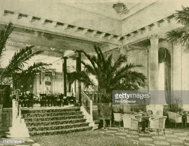 """Palm Court and Lounge in the Majestic', circa 1930. From """"The Wonder Book of Ships"""", edited by Harry Golding. [Ward, Lock & Co., Limited, London and..."""