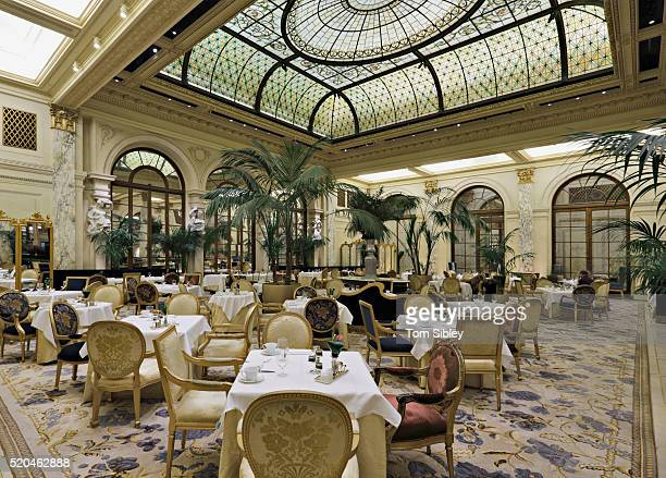 Palm Court restaurant at the Plaza Hotel