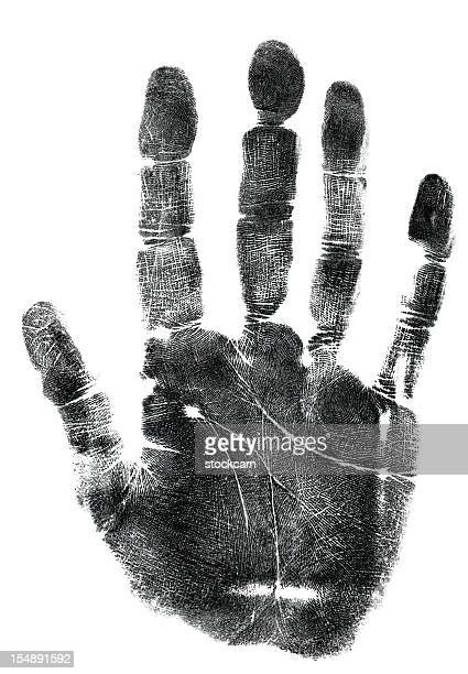 Palm of hand ink print