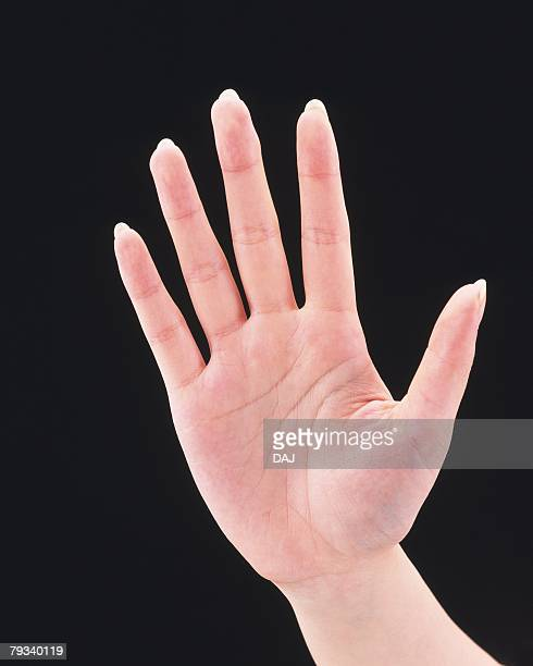 Palm of womans hand