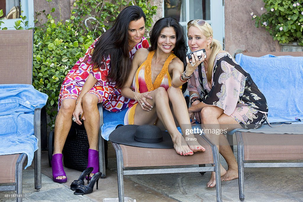 HILLS -- 'Palm Springs Breakers' Episode 406/407 -- Pictured: (l-r) Kyle Richards, Joyce Giraud, Kim Richards --