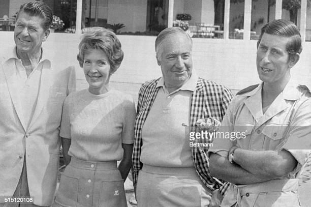 Palm Springs, California: Prince Charles of England is a guest of the U.S. Ambassador to Britain, Walter Annenberg's estate in Palm Springs. A short...
