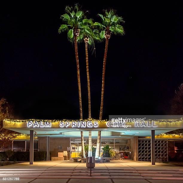Palm Springs City Hall by Night