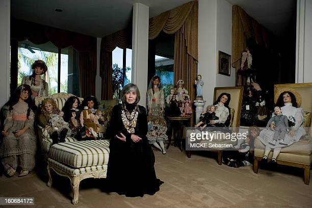 Palm Springs February 22 2010 Anne Rice author of 'Interview with the Vampire' the team receives 'Paris Match' with her at his home in California was...