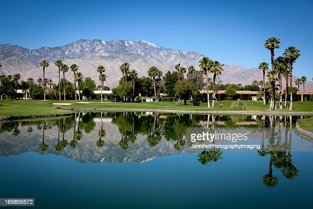 palm springs golf course - palm springs california stock pictures, royalty-free photos & images
