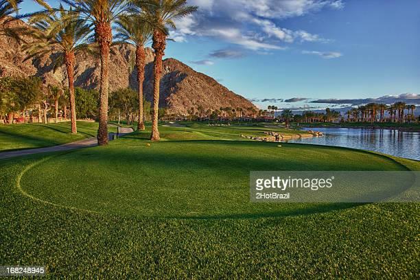 パームスプリングスゴルフコース - ティーグラウンド ストックフォトと画像