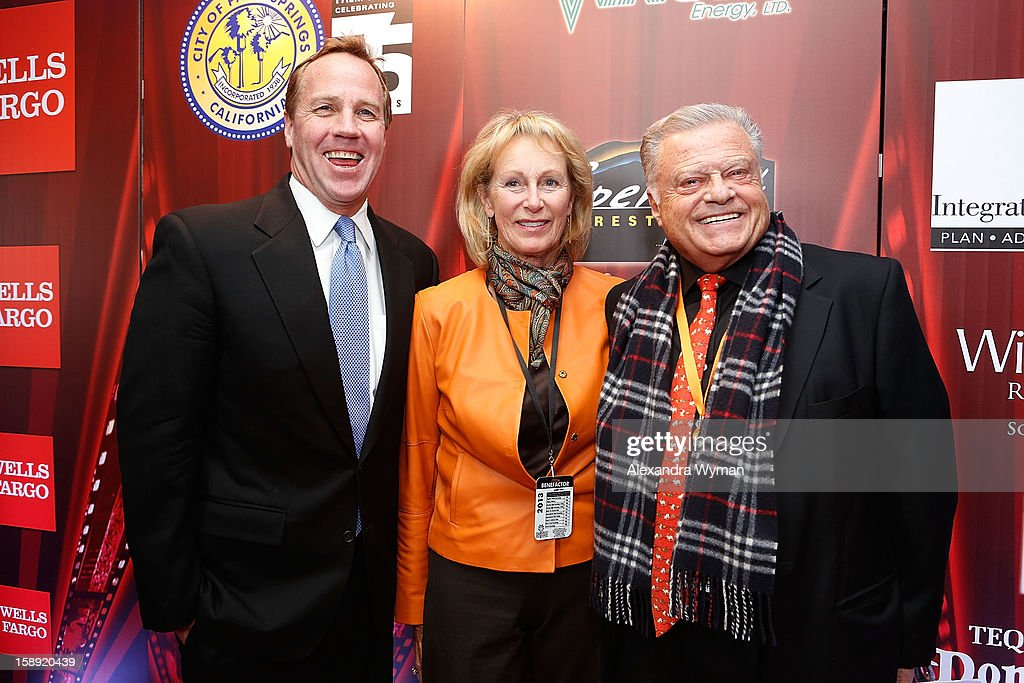Palm Springs Mayor Steve Pouget and Festival Chairman Harold Matzner at The 24th Annual Palm Springs International Film Festival Opening Night Screening And Receptionon January 3, 2013 in Palm Springs, California.