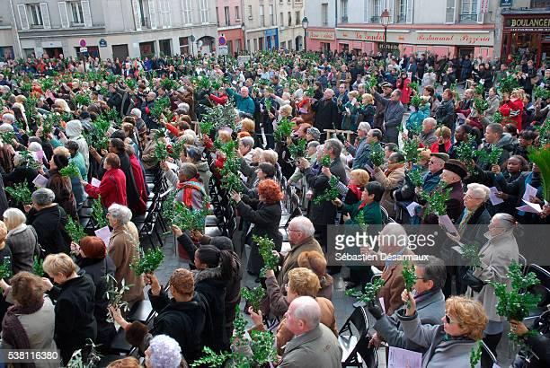 palm sunday celebration - domingo de ramos imagens e fotografias de stock