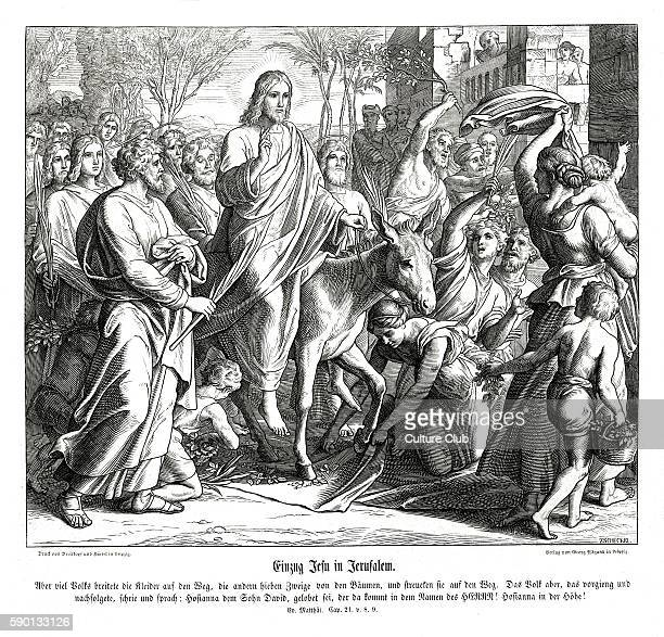 Palm Sunday / Entrance of Jesus into Jerusalem Gospel of Matthew chapter XXI verses 8 9 'And a very great multitude spread their garments in the way...