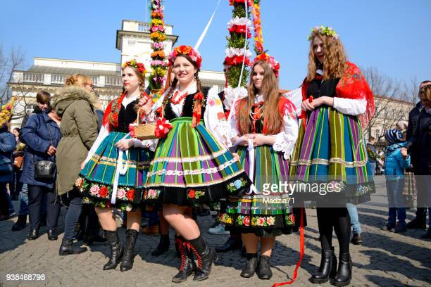 palm sunday in łowicz - polish culture stock photos and pictures
