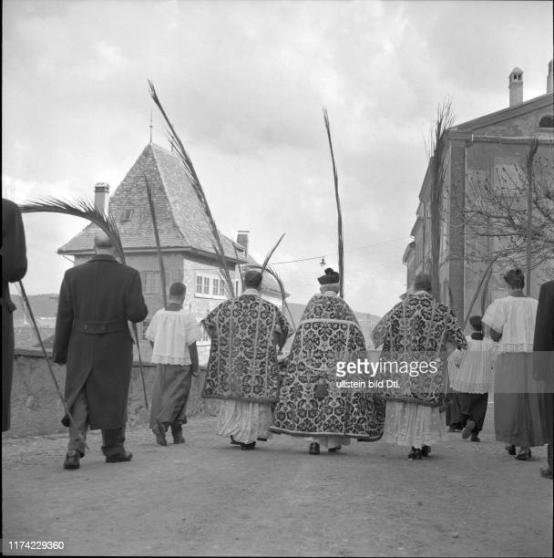 Palm Sunday in Romont 1957