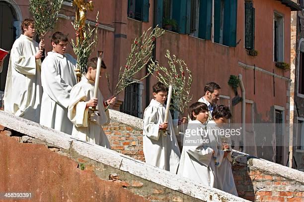 Palm domingos procesión en Venecia