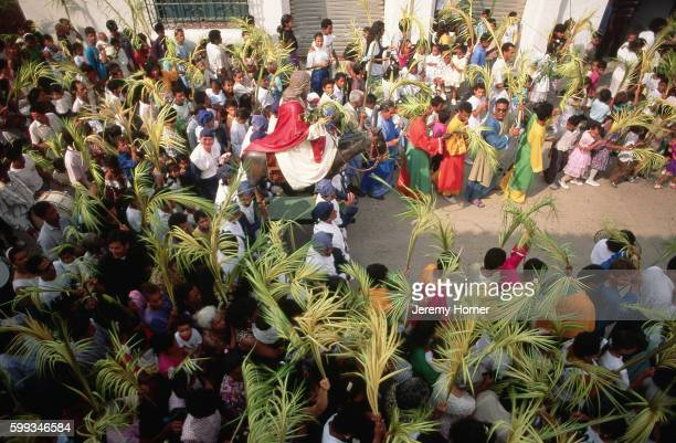 palm sunday procession - palm sunday stock pictures, royalty-free photos & images