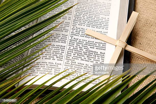 palm sunday still life - palm sunday stock pictures, royalty-free photos & images