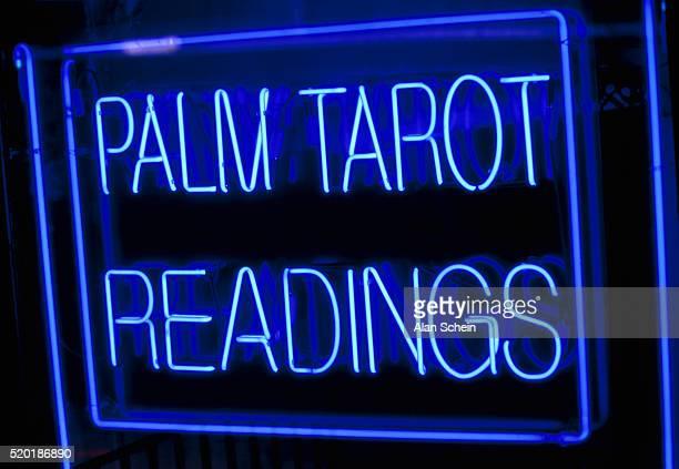 'Palm Tarot Readings' Neon Sign