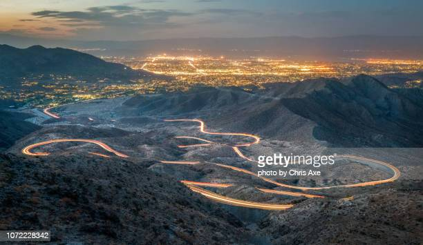 palm to pines hwy 74 - palm springs and palm desert, ca - palm springs california stock pictures, royalty-free photos & images