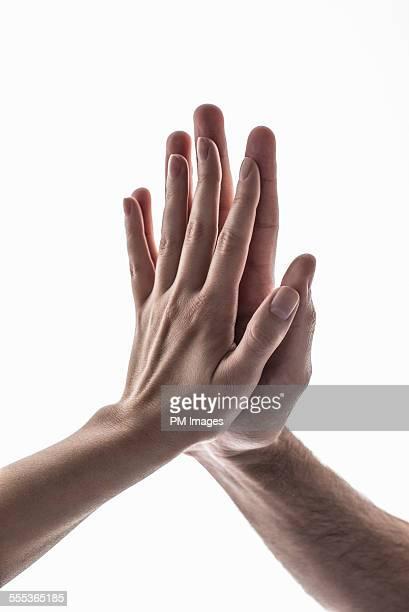 Palm touching palm