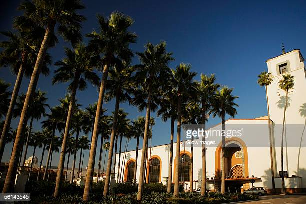"""""""palm trees outside a station, union station, los angeles, california, usa"""" - union station los angeles stock photos and pictures"""